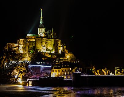 Night images of Le Mont Saint-Michel