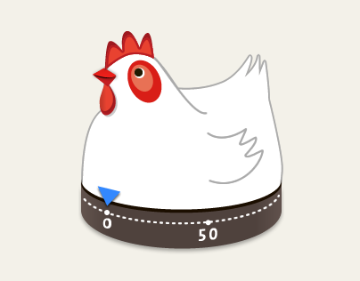 Animated Chicken Cooking Timer