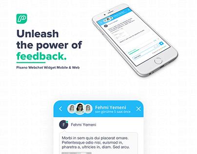 Pisano Webchat Widget Web & Mobile Customer Survey