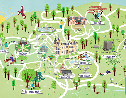 Visitor Folding Mindfulness map for Waddesdon Manor NT