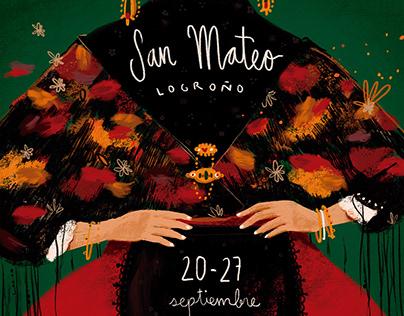 Cartel San Mateo 2019.Logroño