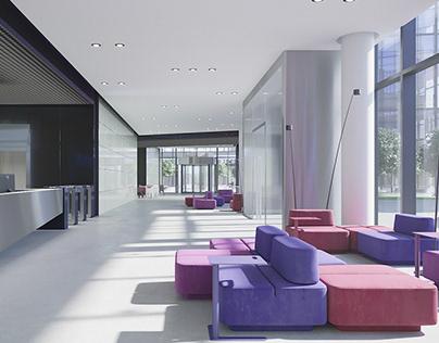Lobby design conception. Kiev.