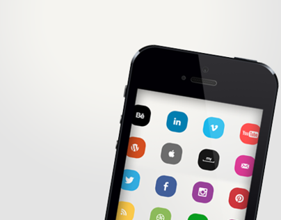 Clean & Colorful Social Media Icons for 2013