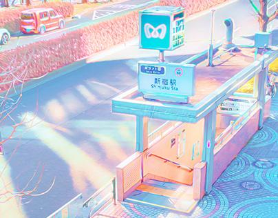 Iridescent Pastel Japan
