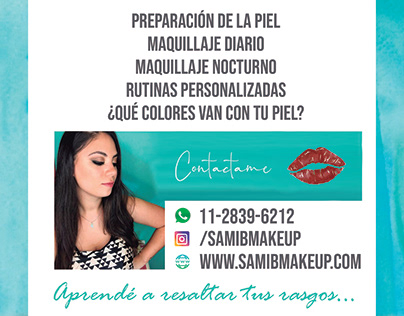 Flyer Clases Automaquillaje - Sami B Make Up