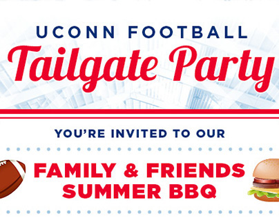 UConn Football Tailgate Party Invitation