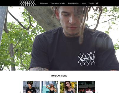 Unruly Miami E-Commerce Site Design