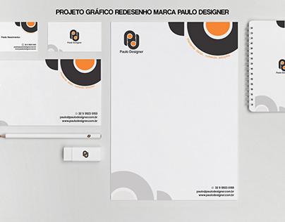 Projeto Grafico Marca Paulo Designer