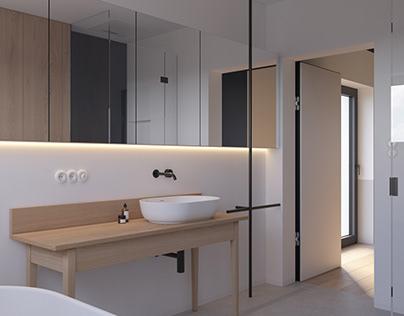 "MINIMALISTBATHROOM ""EK""Modern Apartment| interior"