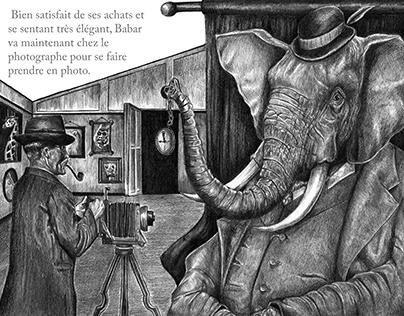 """Alternative Illustration for 1931's """"Histoire de Babar"""""""