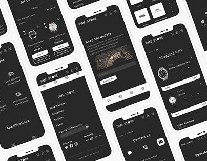 Time Store UI/UX Design