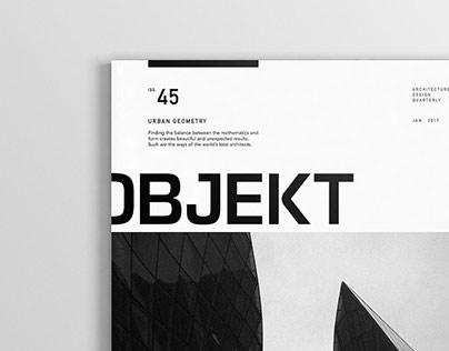Objekt Magazine Redesign