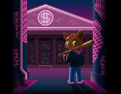 Котёнок - гангстер