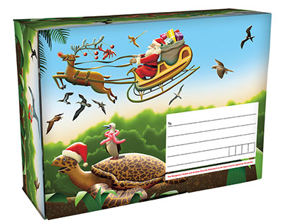 Australia Post Christmas Island   packaging 2016
