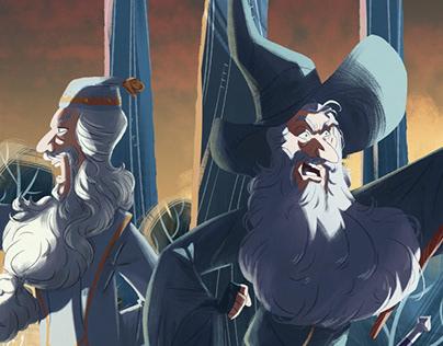 Dumbledore & Gandalf :: Commission
