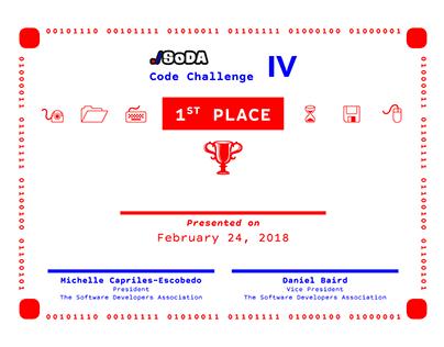 SoDA Code Challenge IV Certificate