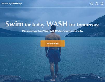 WASH - Landing Page Concept