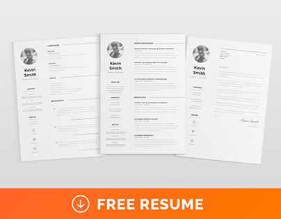 Free clean minimal resume template on behance pronofoot35fo Images