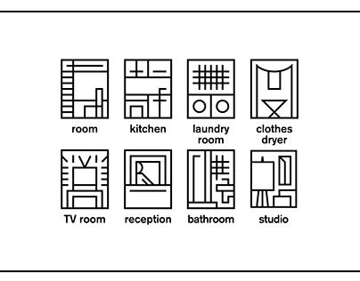 Icon set for ASP dorrmitory