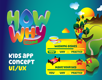HOW WHY Island 3D - Kids App Concept UI/UX