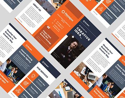 Hexagon Corporate Trifold