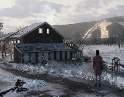 Norwegian winter exterior