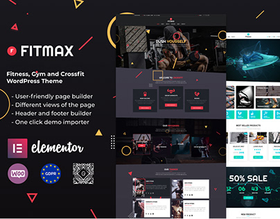 Fitmax - Fitness, Gym and Crossfit WordPress Theme