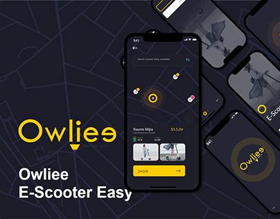 Owliee E-Scooter Mobile Application UI Design