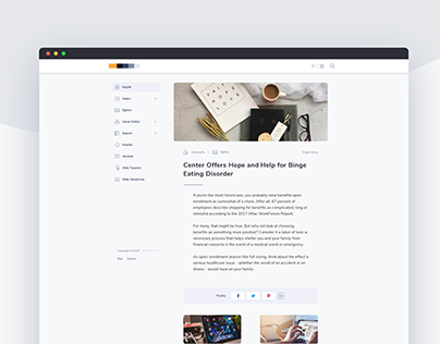 Blog Article Page Design