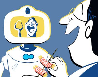 節日線上行銷活動插圖 - Robelf the Smart Robot