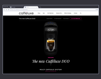 Cafféluxe DUO | Landing Page