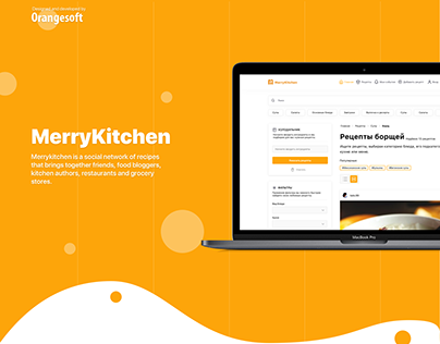 Merrykitchen- social network of recipes - Web