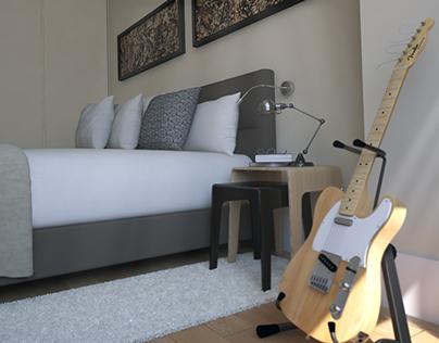 A bedroom in Monaco...