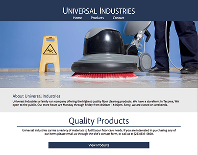 Universal Industries Website