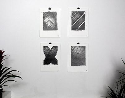 SCREEN PRINT BLACK INK I, II, III & IV