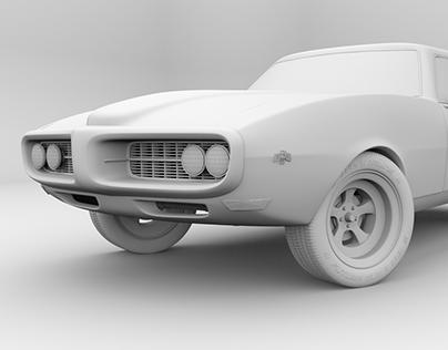 Estudos Blender - Pontiac Firebird 1968