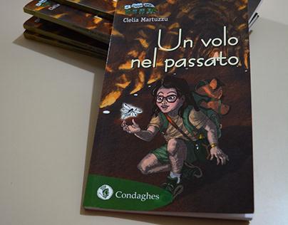 """cover for a children's book """"Un Volo nel Passato"""""""