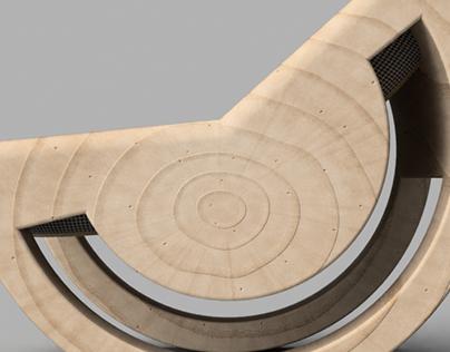 Circular Wedge Rocker Chair