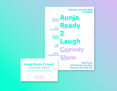 Aunja Ready 2 Laugh Poster and Show Card