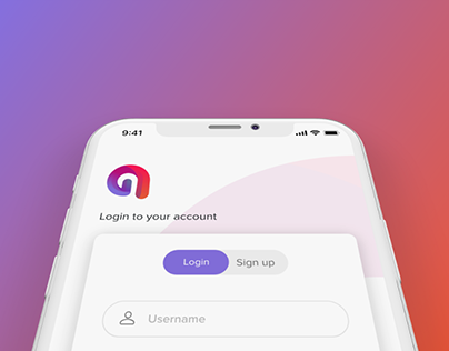 Login UX/UI for a mobile app