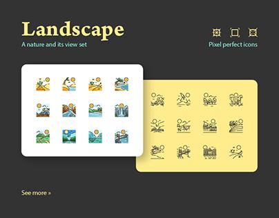 Landscape Icon Set