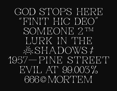 Pine Street Typeface