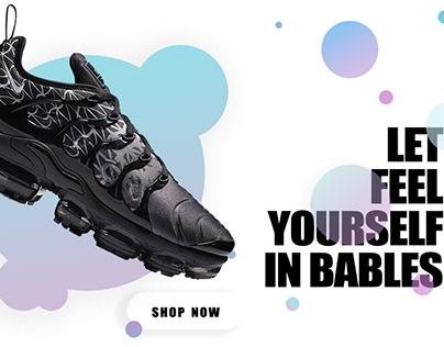Sport shoes advertising UI design