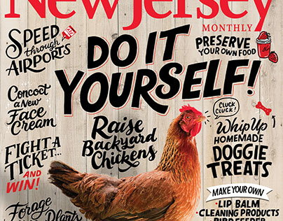 Cover Lettering for New Jersey Monthly Magazine