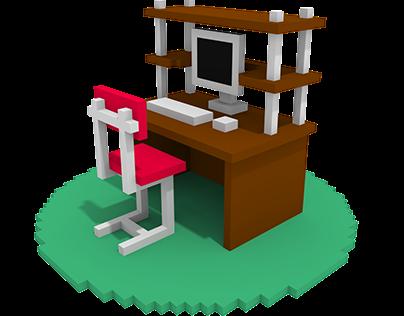 Voxel Computer desk