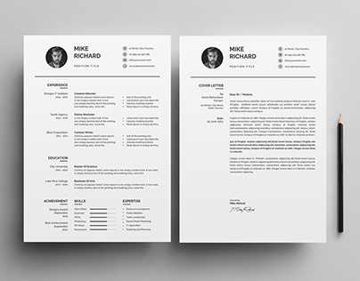 Clean Resume Template / CV