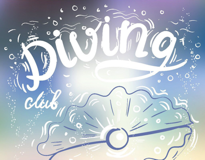 Diving club : branding + wall painting