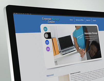 Corporate Massage in London: Website Design
