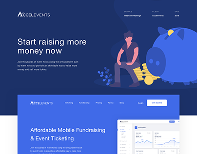 Accelevents - Website UI/UX Redesign