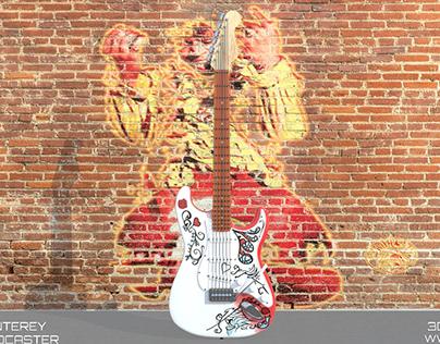 3D Project - Jimi Hendrix Fender Monterey Stratocaster